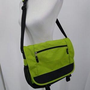 Eddie Bauer Bag Green Black Travel Briefcase Tote